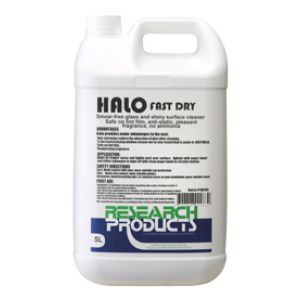 Research Halo Fast Dry Glass & Shiny Surface Cleaner - 5L