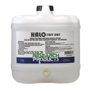 Research Halo Fast Dry Glass & Shiny Surface Cleaner - 15L