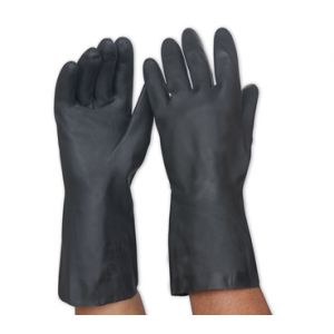 Black Neoprene Chemical Resistant Gloves 33cm