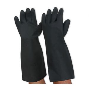 Black Knight Chemical Resistant Latex Glove - Large