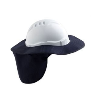 Detachable Plastic Hard Hat Brim  Navy Blue