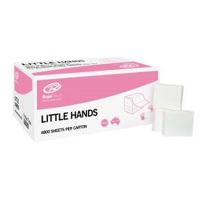 Little Hands Paper Hand Towel 12.5cm x 24cm - Ctn 4800