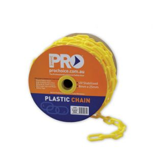Plastic Safety Chain Yellow - 25m