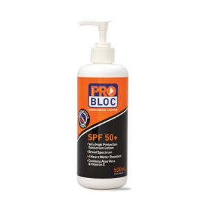 Pro Block Sunscreen SPF50+ 500ml Pump Pack