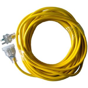 Extension Lead Yellow Cable Illuminated Plug 10amp - 25m